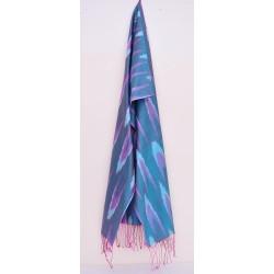 Синий шелковый шарф