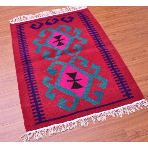 Красный коврик 65х95