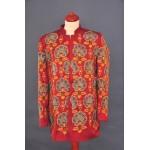 Красный жакет с вышивкой
