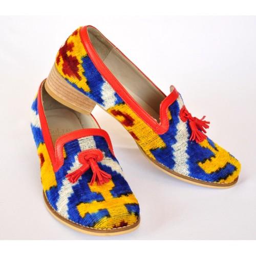 Женские туфли из бархатного Адраса