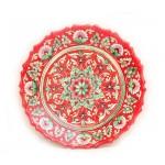 Красная тарелочка, 22 см