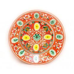 Тарелка керамика покрытая с глазурью, 27 см