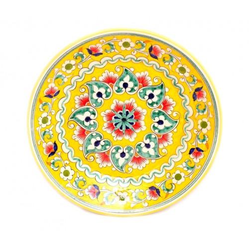 Керамика Риштана, желтая 23 см