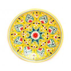 Тарелочка круглая, желтая 23 см