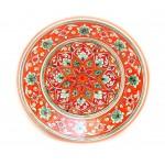 Керамика роспись тарелка, красная 23 см