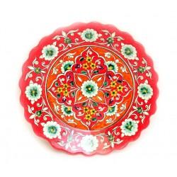 Красная тарелка рифленая 26 см