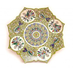 Зеленая тарелка для декора, 42 см