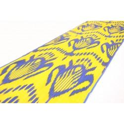 Ярко-желтая Икат ткань