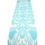 Бирюзовая ткань Икат