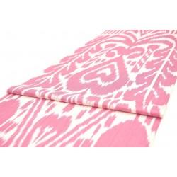 Розово-белая хлопковая ткань