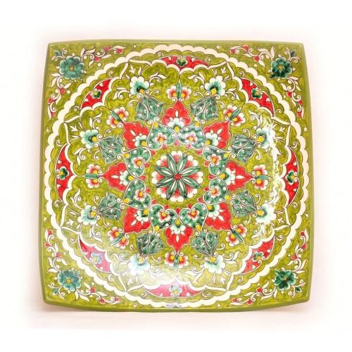 Зеленая керамика Риштана, 30 см