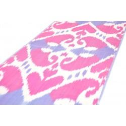 Розово-белая Адрас ткань