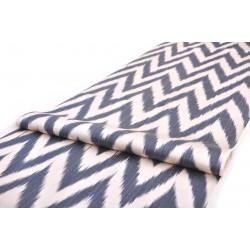Икат ткань серо-синий
