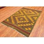 Афганский шерсяной ковер, 145 см х100 см