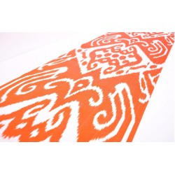 Ткань Икат оранжевая пустыня