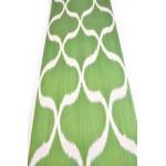 Узбекская ткань зеленого цвета