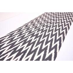 Ткань натуральная черна-белая