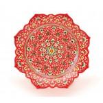 Керамическая тарелка с рефлёными краями