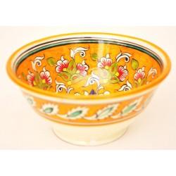 Желтая посуда из керамики