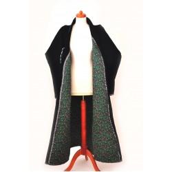 Узбекский халат-чапан стеганный черный