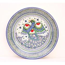 """Риштанская тарелка """"Птица счастье"""""""