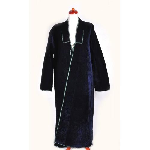 Узбекский халат-чапан стеганный синий