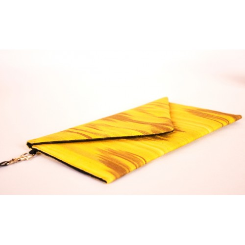 Желтый Клатч конверт Ikat