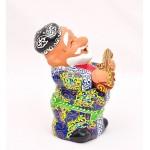 """Керамическая статуэтка """"Дед с рубобом"""""""