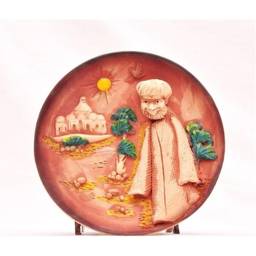 Керамическая тарелка-панно 3Д
