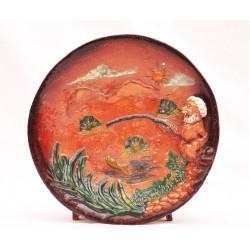 Керамическая тарелка 3Д для декора