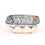 Салатница квадратная из керамики 13,5 см