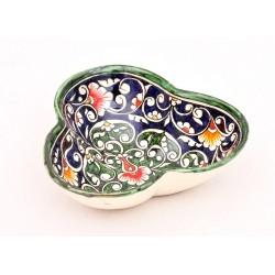Конфетница из голубой керамики