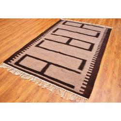 Beige Некрашеный шерстяной килим, 180 х 120см