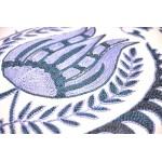 Наволочка голубая вышивка, 40х60 см