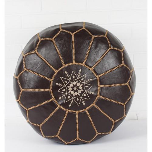 Марокканский пуф из кожи
