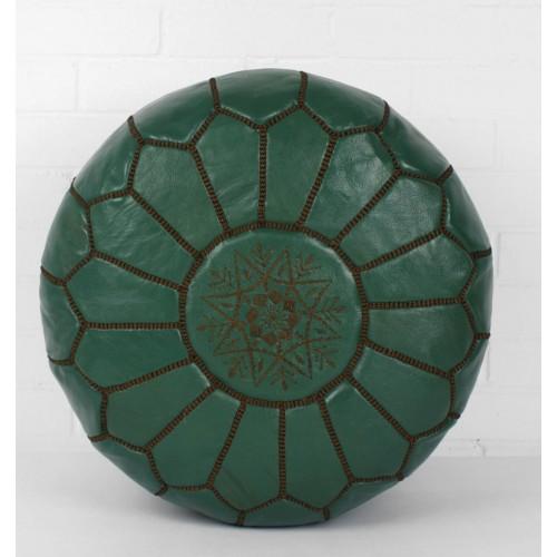 Марокканский пуф Темно-Зеленный