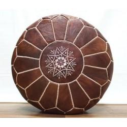 Марокканский пуф из натуральной кожи