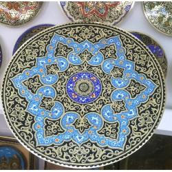 Декоративная тарелка из меди