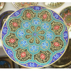 Красивая тарелка из меди,30 см