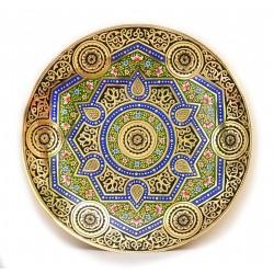 Тарелка из меди художественная чеканка