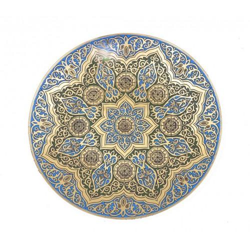 Декоративная настенная тарелка из меди