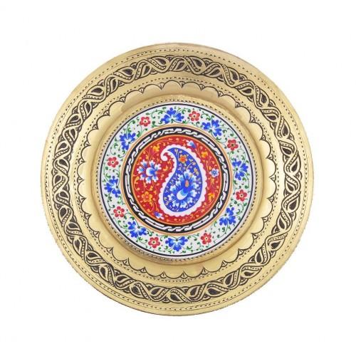 """Декоративная навесная тарелочка из меди """"Бодом"""""""