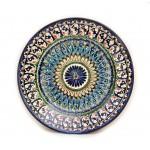 Круглая керамическая тарелка