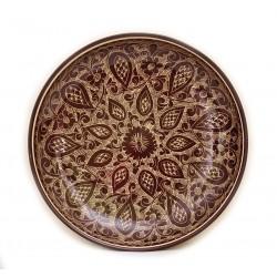 Круглое керамическое блюдо для плова 28см