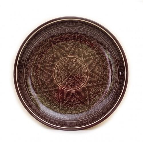 Керамическое блюдо ручной росписи 28см