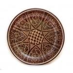 Декоративная тарелка из глины 25см