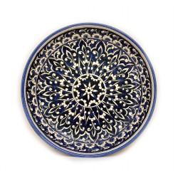 Риштанская тарелка из глины 25см