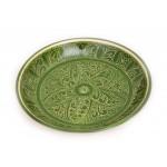 Глиняное тарелка ручной работы 25см