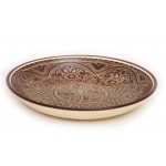 Тарелка ручной работы из глины 25см