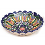 Фруктовая тарелка с рифлеными краями из керамики